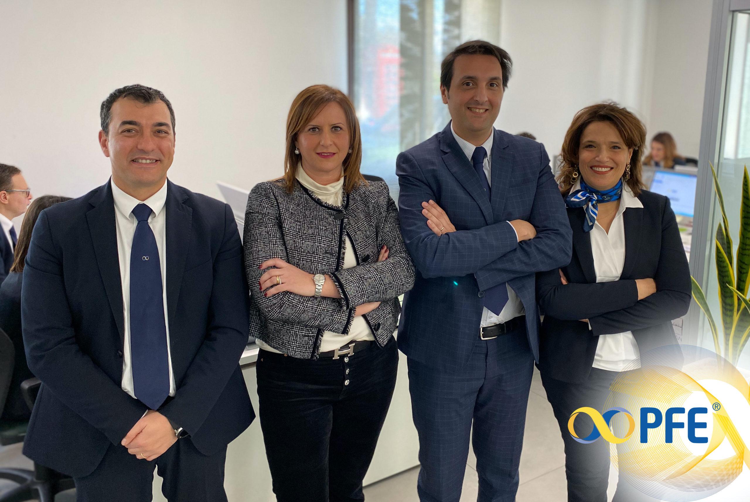 Alla scoperta di PFE: Maria Costa a capo della Direzione Centrale Risorse Umane insieme al suo Team composto da Giuseppe Pilato, Giacomo Casalicchio e Sabrina Ravalli