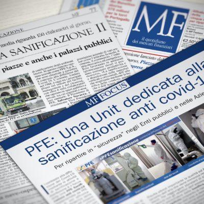 PFE & Milano Finanza: per far ripartire l'economia italiana la sanificazione è un fattore imprescindibile