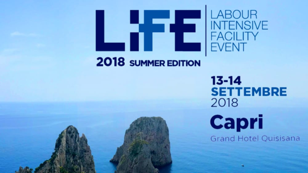 PFE presente al LiFE | labour Intensive Facility Event – summer edition 2018