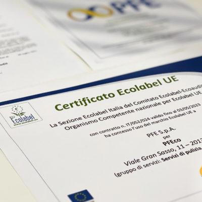 PFE green: arriva la certificazione Ecolabel. PFE autorizzata ad utilizzare il marchio istituito dall'Unione Europea
