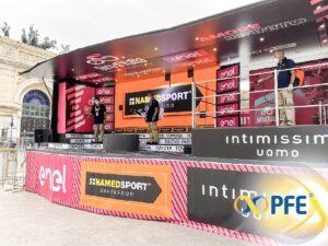PFE Informa: la sanificazione del 103esimo Giro d'Italia, Marcello Abbate intervistato dal TGR Sicilia alla partenza di Monreale